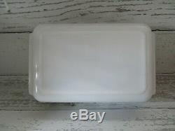 Vintage Pyrex Rooster And Sunflower Casserole Dish 2 Qt 575-b 1950's