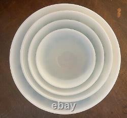 Vintage Pyrex Turquoise Amish Butterprint 401 402 403 404 Mixing Bowls Set