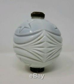 Vintage SCARCE White Milk Glass Lightning Rod Ball STARS & STRIPES! GORGEOUS