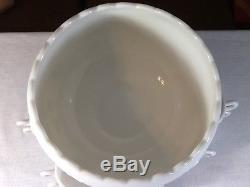 Vintage Westmoreland Milk Glass Punch Bowl Set with 10 Cups and Ladle
