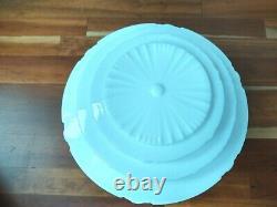 Vtg Wedding Cake Milk Glass Celing Light Fixture Globe