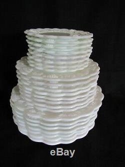 Westmoreland Milk Glass Paneled Grape Dinner Place Setting Collection 39pc