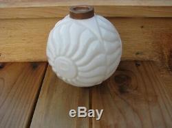 White Milk Glass R. H. F. Old Lightning Rod Ball