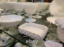 X6 Fenton Milk Glass Vintage Goblets